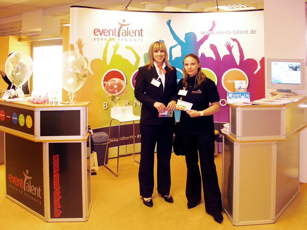 eventtalent messe messestand hostess infostand deko