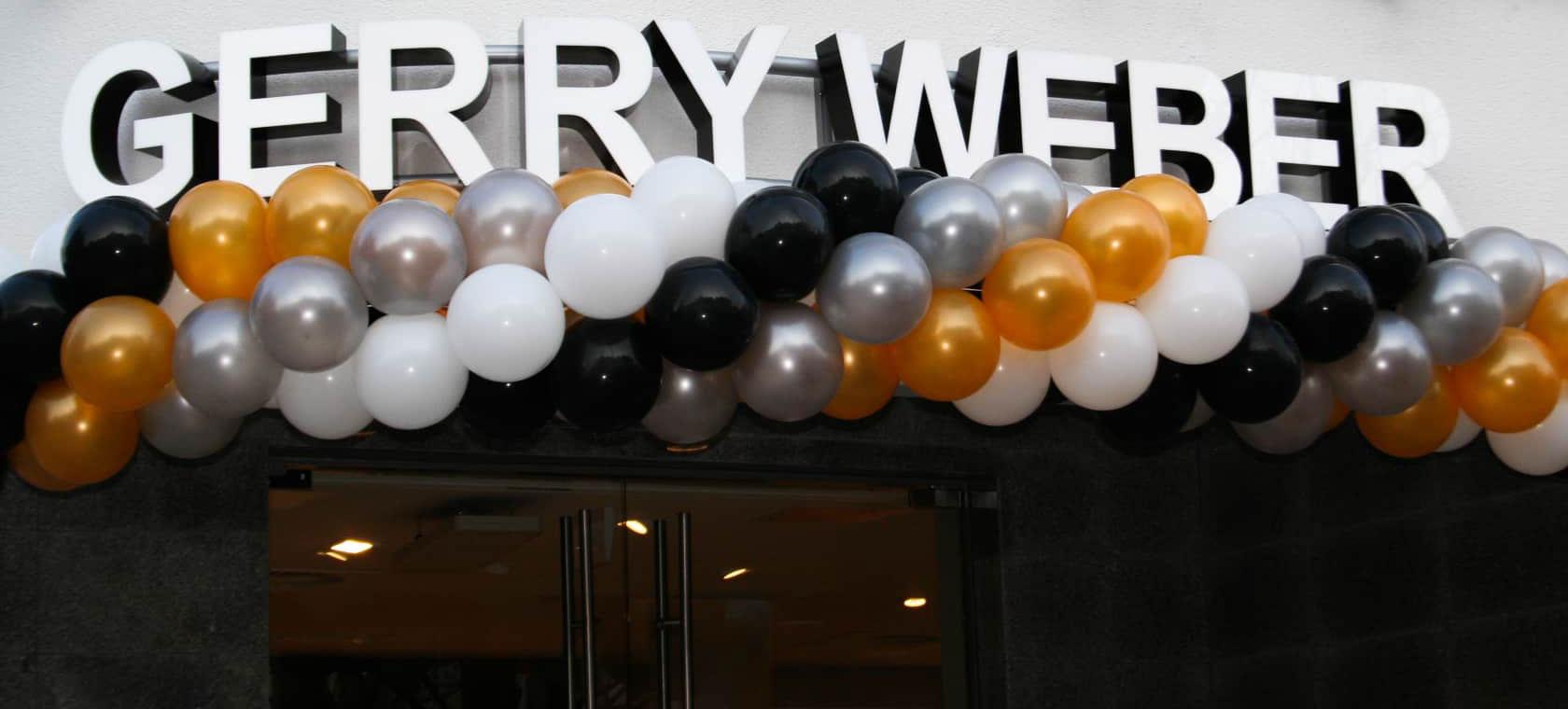 eventtalent ballonservice jubilaeum eroeffnung gerry weber ballon golden silber