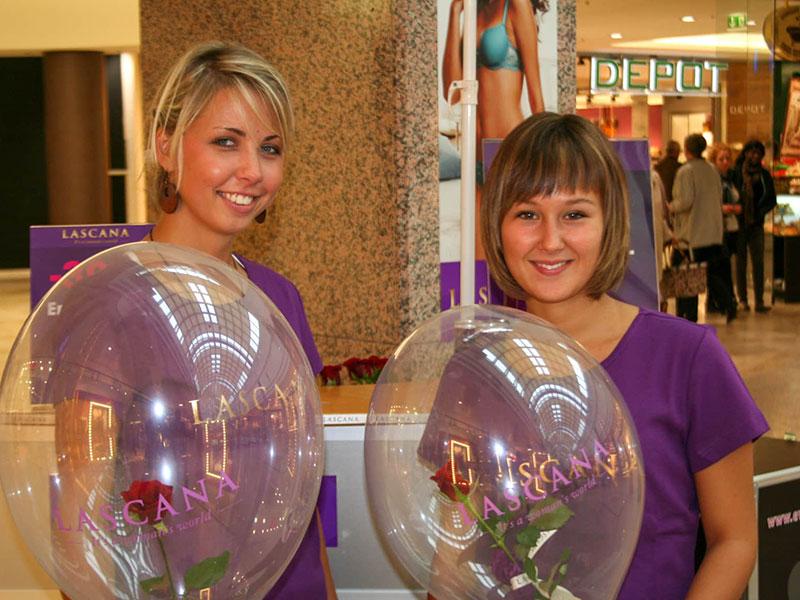 eventtalent rose im ballon hostess geschenk valentinstag rose